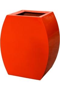 Кашпо livingreen curvy ursula 1 polished flame red l51 w35 h60 см