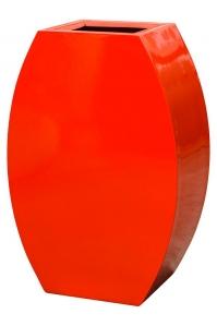 Кашпо livingreen curvy ursula 2 polished flame red l59 w35 h90 см