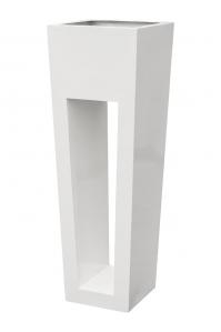 Кашпо livingreen maxi flare hd polished brilliant whit l40 w40 h120 см