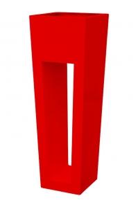 Кашпо livingreen maxi flare hd polished flame re l40 w40 h120 см