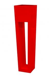 Кашпо livingreen maxi flare hd polished flame red l40 w40 h150 см