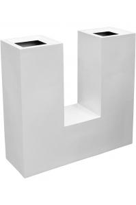 Кашпо livingreen u planter 1 matt brilliant white l90 w30 h90 см