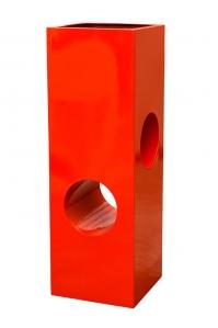 Кашпо livingreen tower holey design 02 polished flame red l40 w40 h120 см