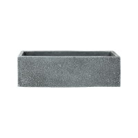 Кашпо marc (concrete) rectangle grey l56 w17 h17 см