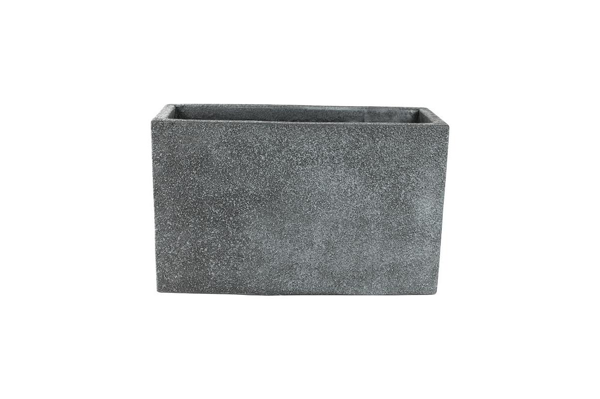 Кашпо marc (concrete) rectangle grey l55 w23 h35 см