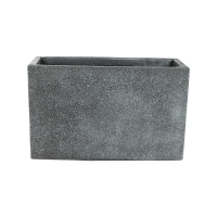 Кашпо marc (concrete) rectangle grey l55 w23 h35 см