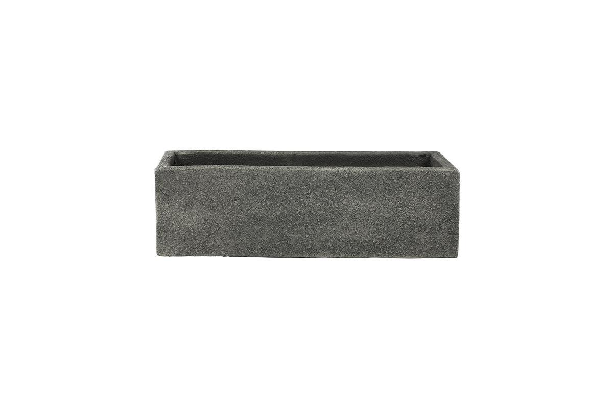 Кашпо marc (concrete) rectangle anthracite l56 w17 h17 см