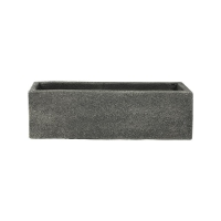 Кашпо marc (concrete) rectangle anthracite l56 w17 h17 см