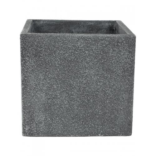 Кашпо marc (concrete) cube grey l44 w44 h42 см