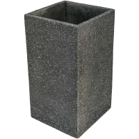 Кашпо marc (concrete) square high anthracite l37 w37 h68 см