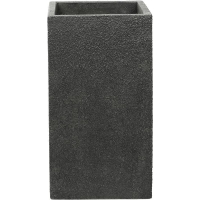 Кашпо marc (concrete) square high anthracite l43 w43 h78 см