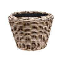 Кашпо drypot rattan round grey outdoor d62 h40 см