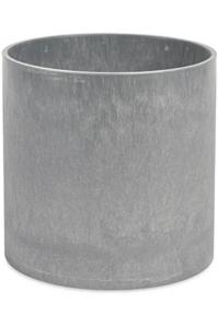 Кашпо parel / expert structure ral 9006 white aluminium d43 h39 см