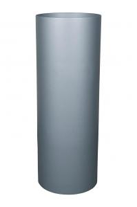 Кашпо parel pedestals / expert round structure ral 9005 black d43 h117 см