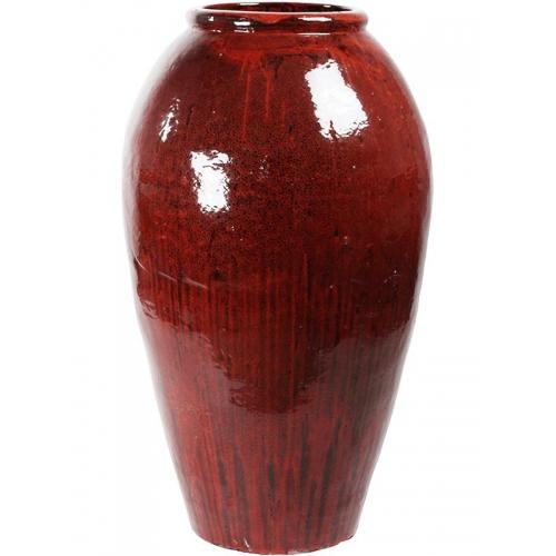 Ваза mystic balloon vase red black d52 h105 см
