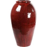 Ваза mystic balloon vase red black d67 h120 см