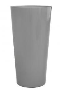Кашпо express gloss silver d38 h73 см