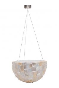 Кашпо подвесное oceana pearl bowl white d38 h23 см
