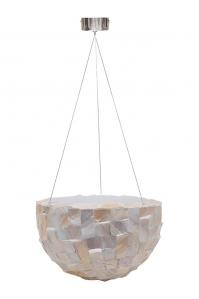 Кашпо подвесное oceana pearl bowl white d33 h20 см