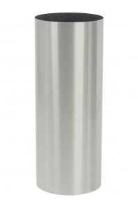 Кашпо parel column stainless steel brushed on felt (1,2mm) d40 h90 см