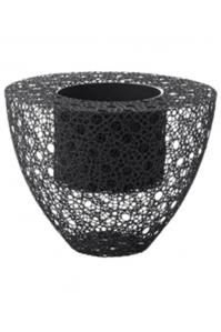 Кашпо wire planter round grey d77 h60 см