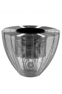 Кашпо wire planter weaving chrome d58 h45 см