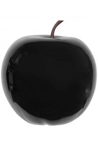 Яблоко декоративное apple glossy black l d53 h56 см