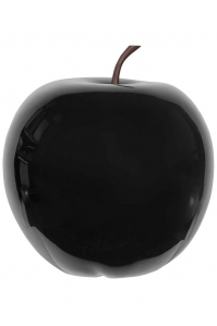 Яблоко декоративное apple glossy black xl d64 h68 см