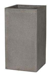 Кашпо stone bouvy l, brushed cement l44 w44 h81 см