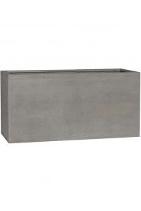 Кашпо stone jort m, brushed cement l100 w40 h50 см