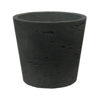 Кашпо rough mini bucket xxxs black washed d9 h7 см