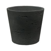 Кашпо rough mini bucket xxs black washed d11 h9 см