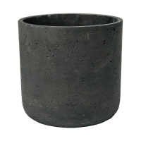Кашпо rough charlie l black washed d25 h24 см