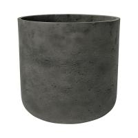 Кашпо rough charlie xl black washed d32 h31 см