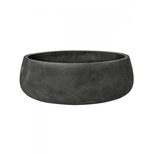 Кашпо rough eileen xl black washed d39 h15 см