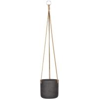 Кашпо подвесное rough charlie (hanging) s black washed d15 h15 см