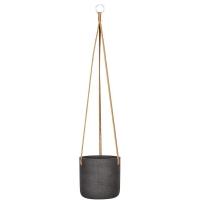 Кашпо подвесное rough charlie (hanging) m black washed d18 h18 см