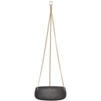 Кашпо подвесное rough eileen (hanging) s black washed d24 h9 см