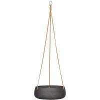 Кашпо подвесное rough eileen (hanging) m black washed d29 h11 см