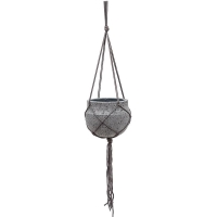 Кашпо подвесное stone (hanging) hans s laterite grey d22 h19 см