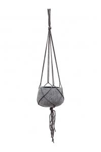 Кашпо подвесное stone (hanging) mini pax s laterite grey d20 h15 см