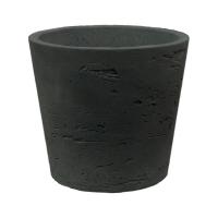 Кашпо rough mini bucket s black washed d14 h12 см