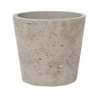 Кашпо rough mini bucket s grey washed d14 h12 см