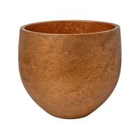 Кашпо rough mini orb l metallic copper d32 h28 см