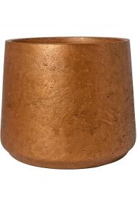 Кашпо rough patt xxxl metallic copper d45 h38 см