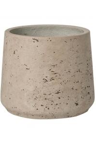 Кашпо rough patt m grey washed d15 h14 см