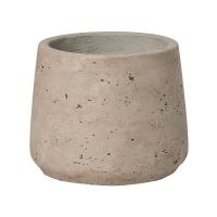 Кашпо rough patt s grey washed d14 h11 см