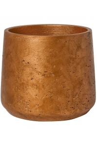 Кашпо rough patt xl metallic copper d23 h20 см