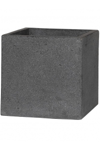 Кашпо stone block m laterite grey l40 w40 h40 см