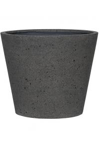 Кашпо stone bucket l, laterite grey d58 h50 см